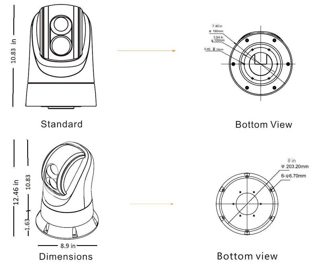 Yacht Camera Dimensions